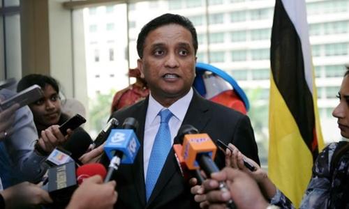 Thứ trưởng Ngoại giao Malaysia Reezal Naina Merican. Ảnh: Reuters