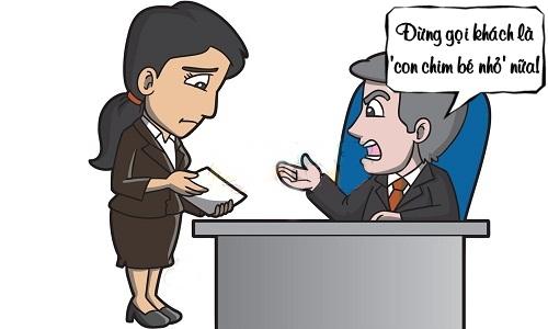 Sếp nổi giận vì nhân viên thân mật với khách hàng