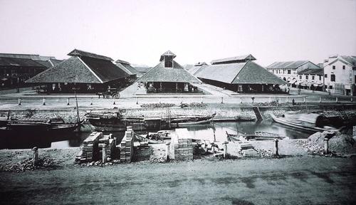 Chợ Bến Thành cuối thế kỷ 19. Ảnh: Wikipedia