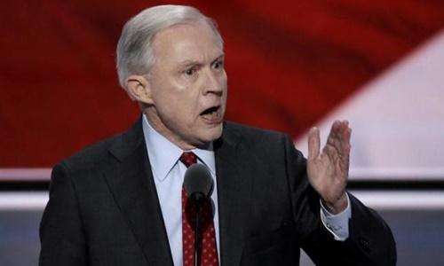 Bộ trưởng Tư pháp Mỹ Jeff Sessions. Ảnh: AP