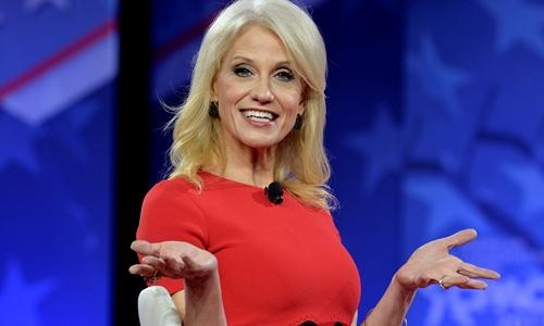 Kellyanne Conway, trợ lý cho Tổng thống Donald Trump. Ảnh: Reuters.