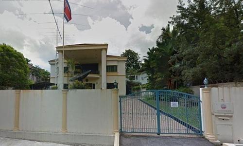Đại sứ quán Triều Tiên tại Malaysia. Ảnh: GMA Network.