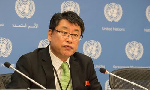 Kim In-ryong, đại sứ Triều Tiên tại Liên Hợp Quốc. Ảnh: AFP