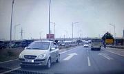 Tài xế chạy ôtô ngược chiều trên cao tốc bị phạt 7 triệu đồng