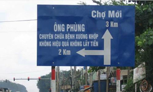 Nghệ thuật quảng cáo chỉ có ở Việt Nam.
