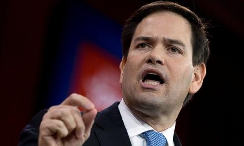 Thượng nghị sĩ đảng Cộng hòa bang Florida Marco Rubio. Ảnh: AP.