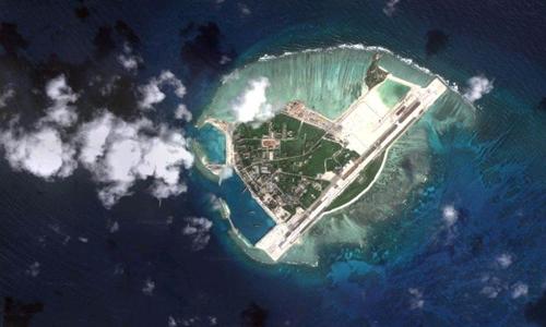 Đảo Phú Lâm, quần đảo Hoàng Sa. Ảnh: Google Maps.