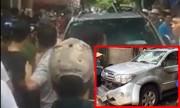 Đám đông đập phá ôtô Fortuner vì nghi phụ nữ bắt cóc trẻ em