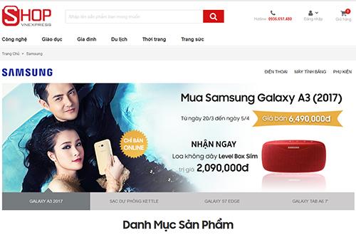 Shop VnExpress ra mắt chuyên trang về sản phẩm Samsung - ảnh 1