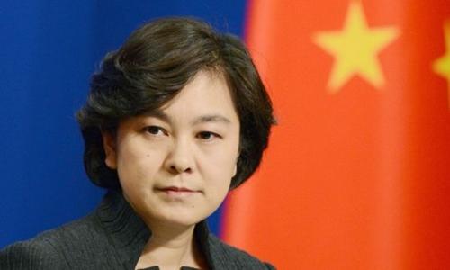 Người phát ngôn Bộ Ngoại giao Trung Quốc Hoa Xuân Doanh. Ảnh: Kyodo.