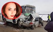 Cô gái xinh đẹp đâm thẳng vào xe buýt vì vừa lái ôtô vừa livestream