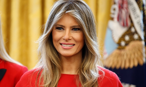 Đệ nhất Phu nhân Melenia Trump. Ảnh: Reuter.s
