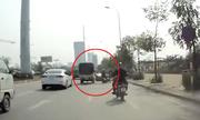 Xe tải phóng như ma đuổi gây tai nạn rồi bỏ chạy