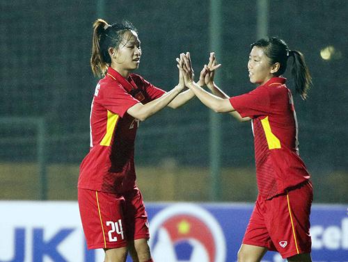 Việt Nam đè bẹp Singapore 8-0 ở vòng loại giải Asian Cup nữ 2018