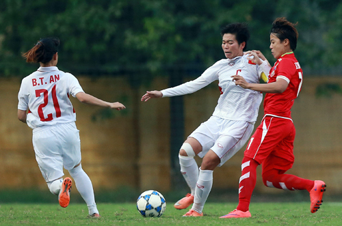 Đả bại Myanmar, nữ Việt Nam giành vé dự Asian Cup 2018