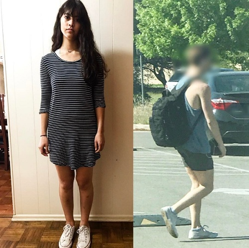 Nữ sinh Mỹ bị trường chỉ trích vì mặc váy thun 'quá ngắn'