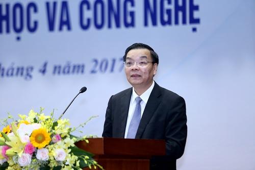 Bộ trưởng Chu Ngọc Anh phát biểu tại Hội nghị. Ảnh: Loan Lê