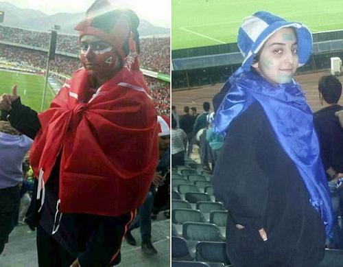 Iran bắt giữ 8 cô gái cải trang nam giới đi xem bóng đá - ảnh 1