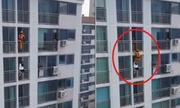 Lính cứu hỏa tung cước cứu sống cô gái nhảy lầu tự tử