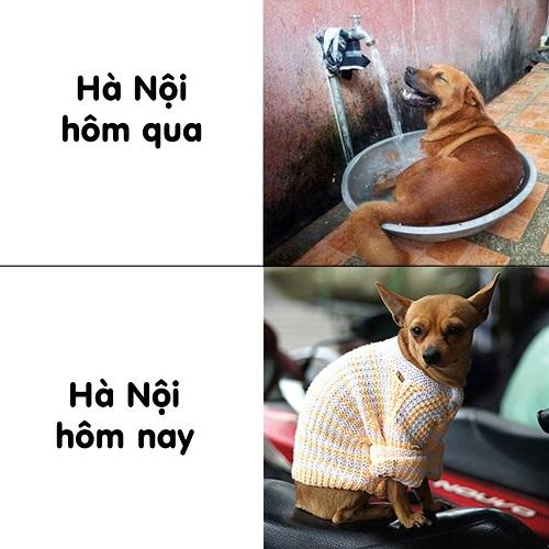 Thời tiết Hà Nội những ngày qua.