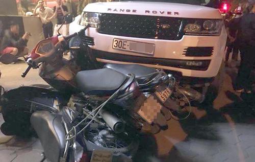 Nghi vấn cướp xe Range Rover bỏ chạy gây tai nạn liên hoàn ở Hà Nội