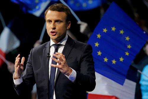 Macron là người có tư tưởng thân EU, ủng hộ toàn cầu hóa. Ảnh: Reuters