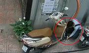 Tên trộm cho thấy bạn có khóa chữ U xe máy cũng vô ích