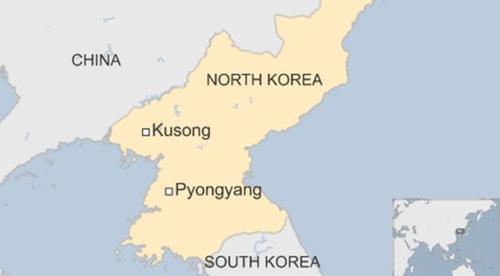 Vị trí thành phố Kusong, Triều Tiên. Đồ họa: BBC.