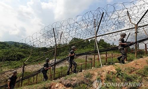 Binh lính Hàn Quốc tuần tra ở biên giới. Ảnh: Yonhap