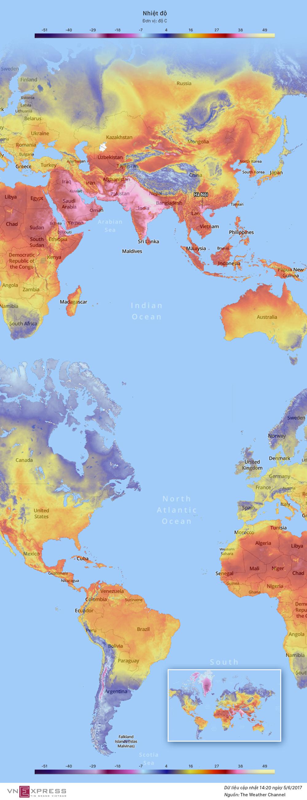Những điểm nóng nhất thế giới