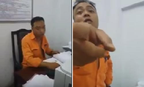 Nhân viên điện lực Hà Nội phanh áo ngực, dọa đánh khách hàng