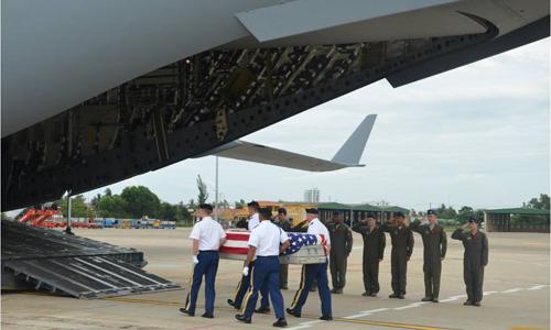 Mỹ hồi hương hai hài cốt binh sĩ tham chiến ở Việt Nam