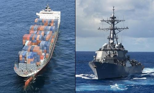 Tàu hàng Philippines báo tin đâm chiến hạm Mỹ chậm một giờ