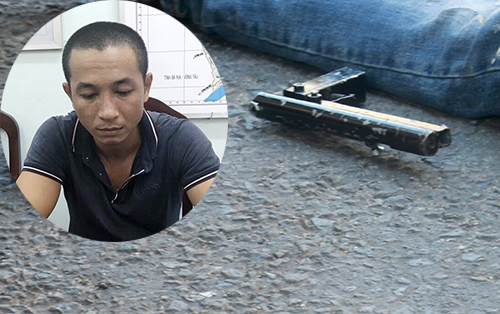 Sau khi gây án, Việt ném khẩu súng ngắn tự chế lại hiện trường. Ảnh: X.N