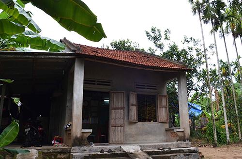 Ngôi nhà nhỏ của Danh ở thôn Nam Phước, xã Nghĩa Thuận, huyện Tư Nghĩa. Ảnh: Thạch Thảo