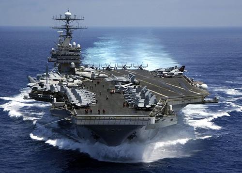 Tàu sân bay Mỹ - Ấn - Nhật lần đầu tập trận chung