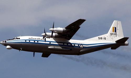 Phi cơ quân sự Myanmar chở hơn 120 người rơi vì thời tiết xấu