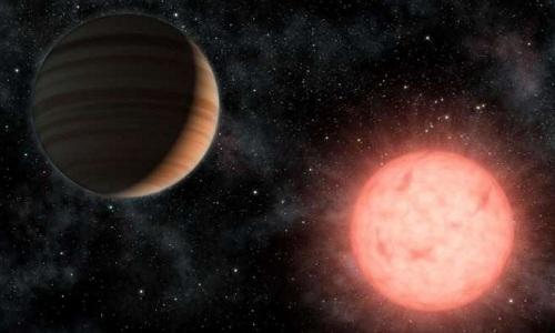 Một hành tinh quay quanh sao lùn loại M. Ảnh: NASA