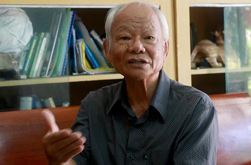 Tiến sĩ Nguyễn Tác An khẳng định đơn vị tư vấn tự để tên ông vào danh sách nhà khoa học. Ảnh: Xuân Ngọc
