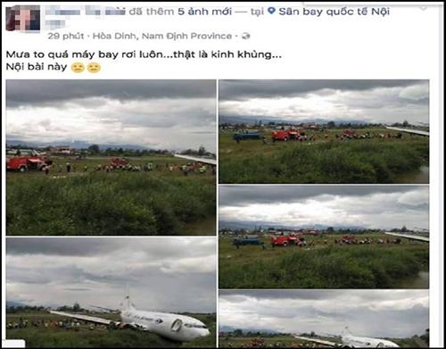 Công an điều tra người tung tin đồn máy bay rơi ở gần Nội Bài