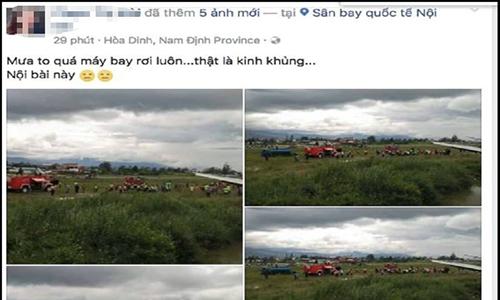 Người phụ nữ tung tin đồn máy bay rơi ở Nội Bài để câu like