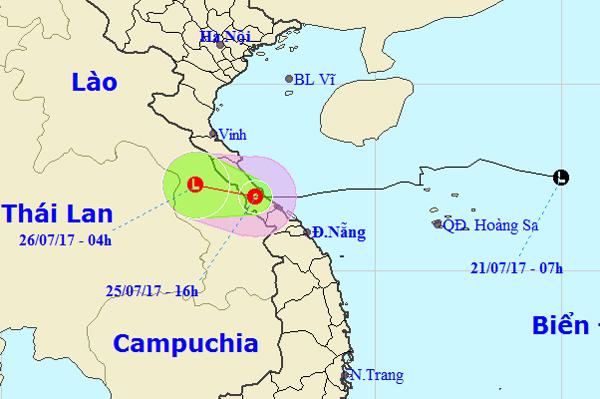 Bão suy yếu thành áp thấp nhiệt đới 3