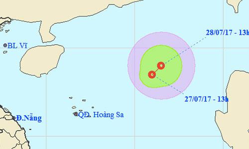Áp thấp nhiệt đới mới trên biển Đông