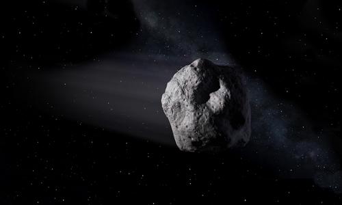 Đồ họa một tiểu hành tinh tiến gần Trái Đất. Ảnh: NASA.
