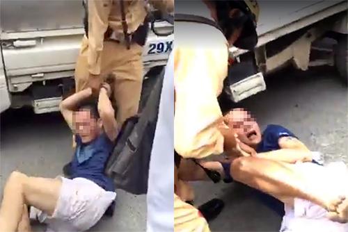 Cảnh sát truy đuổi ôtô nghi chở ma túy trên phố Hà Nội