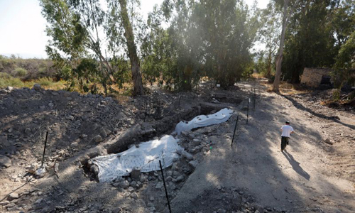 Địa điểm khảo cổ ở phía bắc Israel, nơi được cho là làng chài quê hương của Thánh Peter. Ảnh: AFP.
