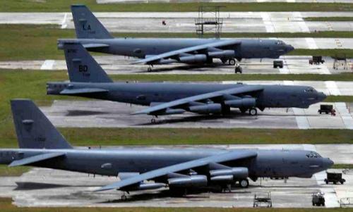 Các máy bay tại căn cứ không quân Anderson trên đảo Guam. Ảnh: