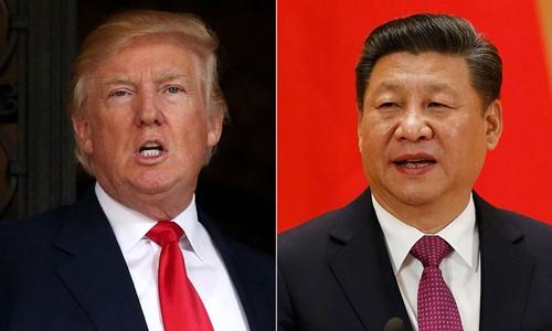 Tổng thống Mỹ Donald Trump (trái) và Chủ tịch Trung Quốc Tập Cận Bình. Ảnh: Asia One.