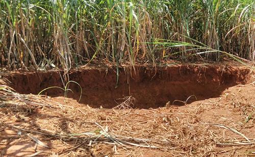 Xuất hiện hố sụt lún lớn ở Thanh Hoá