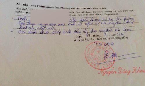 Thêm xã ở Hà Tĩnh bút phê gây khó vào lý lịch sinh viên